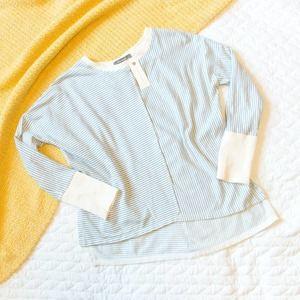 Anthropologie • NWT Blue Striped Crewneck Sweater